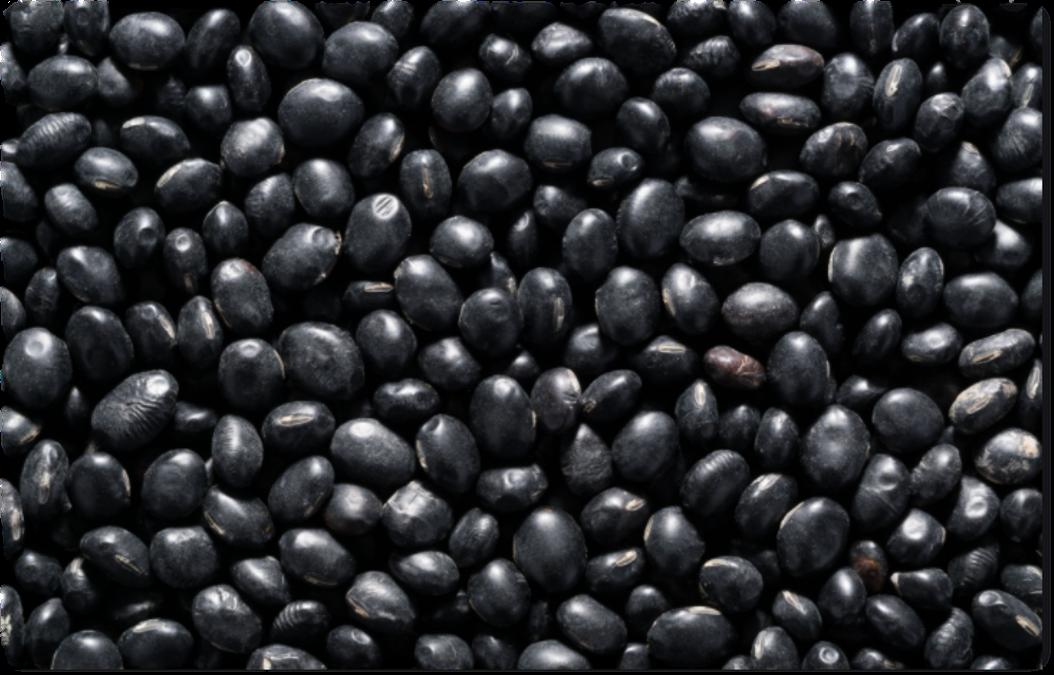 black beans soft edges